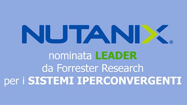 Nutanix nominata Leader nell'iperconvergenza