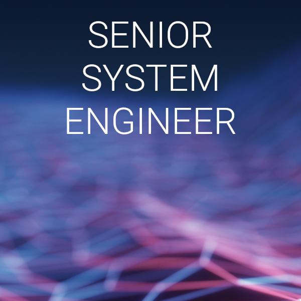 Posizione lavorativa SENIOR SYSTEM ENGINEER